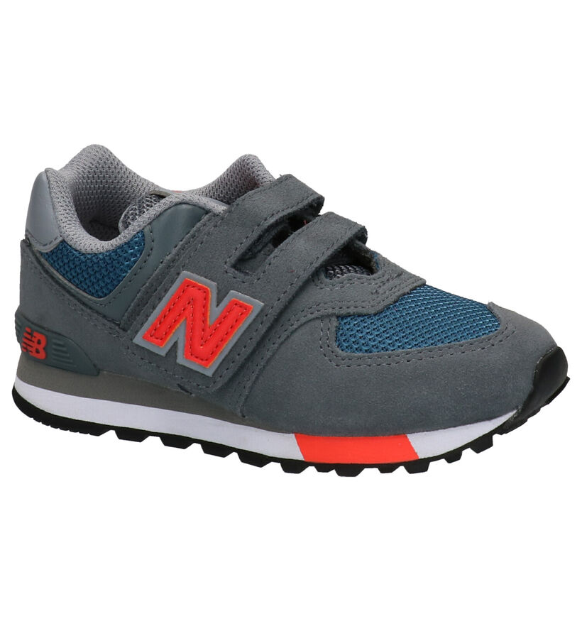 New Balance YV574 Grijze Sneakers in daim (253365)