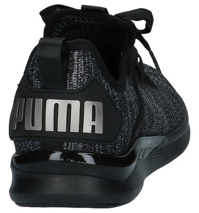 Zwarte Sneakers Puma Ignite Flash Evo in stof (209965)