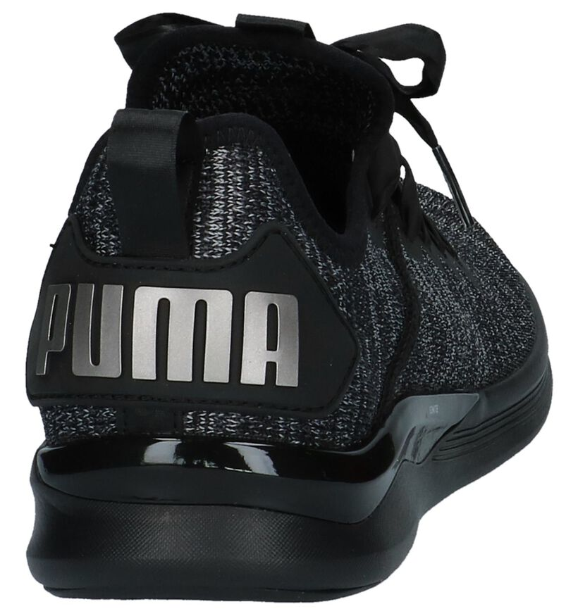 Zwarte Sneakers Puma Ignite Flash Evo in stof (209965)
