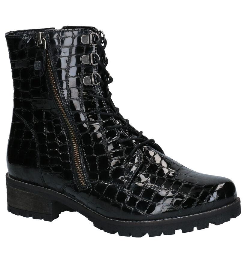 Helioform Zwarte Boots in lakleer (262415)