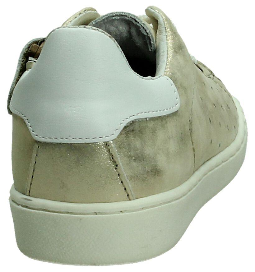 Zilveren Sneaker Hampton Bays in leer (189348)