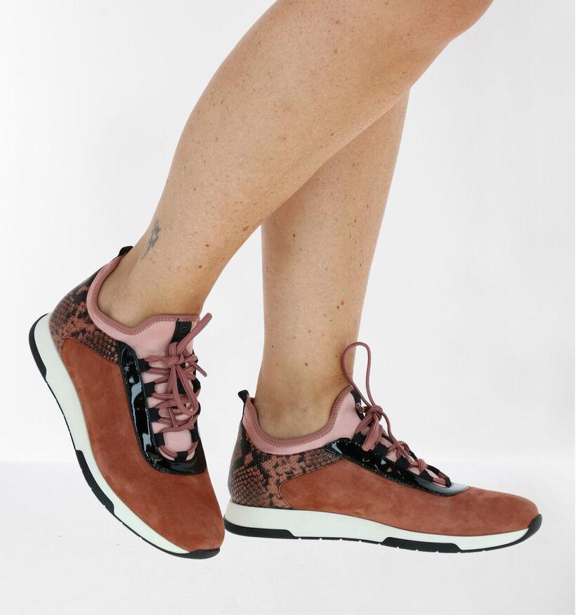Unisa Fonts Zwarte Slip-on Sneakers in leer (283294)