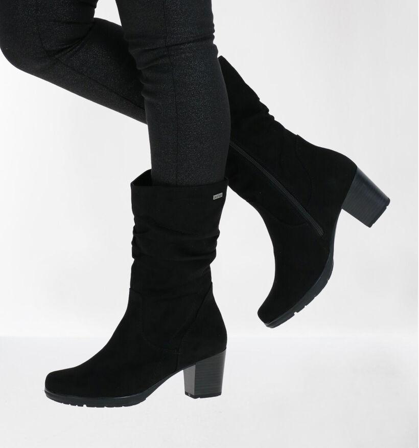 Jana Bottes effet plissé en Noir en textile (280906)