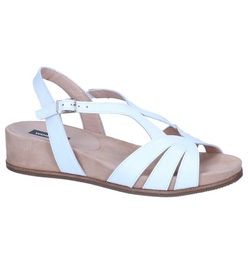 Wonders Sandales à talons en Blanc en cuir (250292)