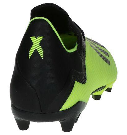 Zwart/Rode Voetbalschoenen adidas X 18.3 FG in kunstleer (236084)