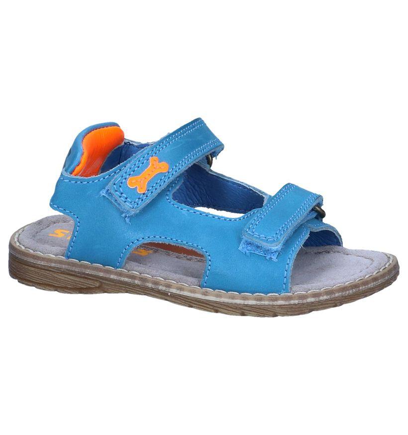 STONES and BONES Sandales en Turquoise en cuir (239780)