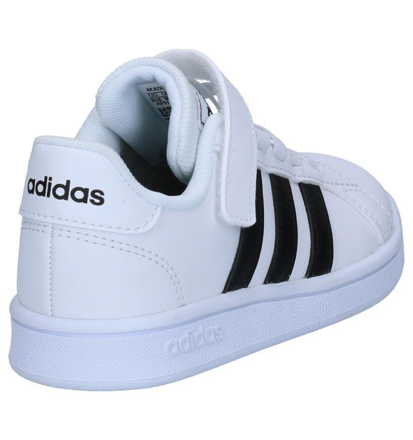 adidas Grand Court Baskets en Blanc en simili cuir (252548)