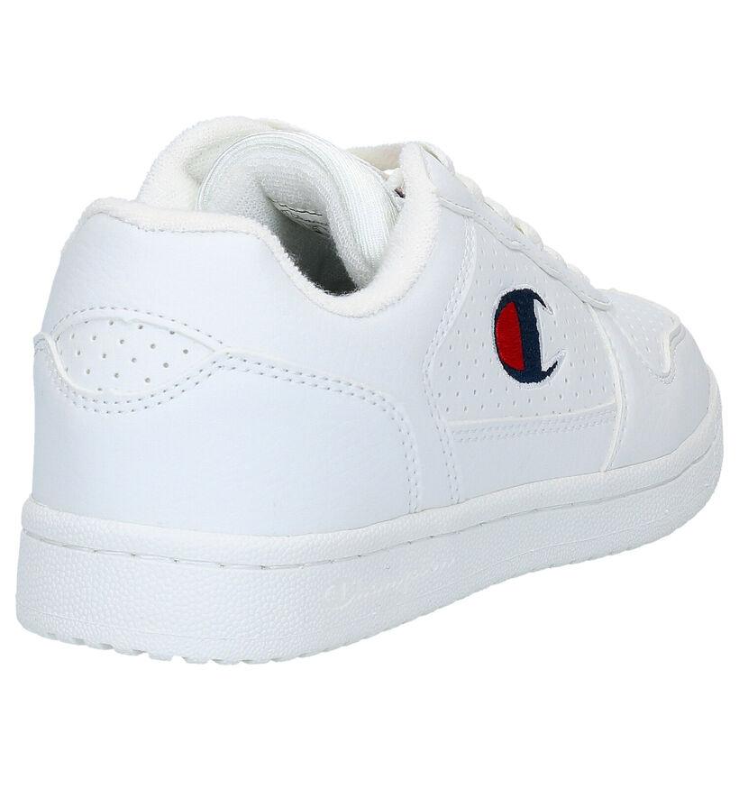 Champion Chicago Witte Sneakers in kunstleer (265805)