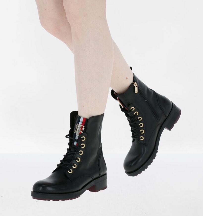 Tommy Hilfiger Essential Zwarte Boots in leer (279975)