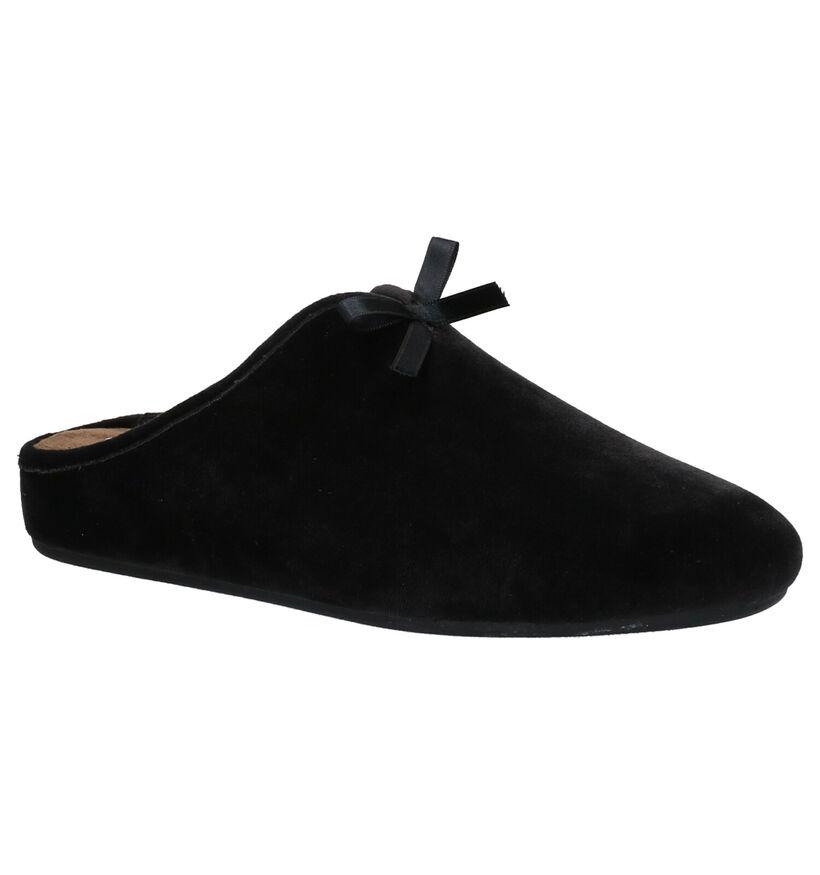 Scholl Rachele Zwarte Pantoffels in stof (261237)