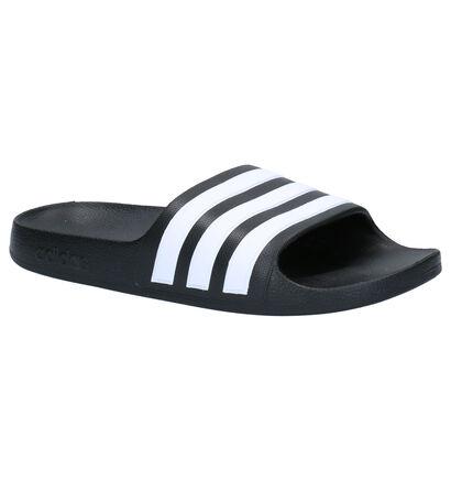 adidas Adilette Aqua Zwarte Slippers in kunststof (252513)
