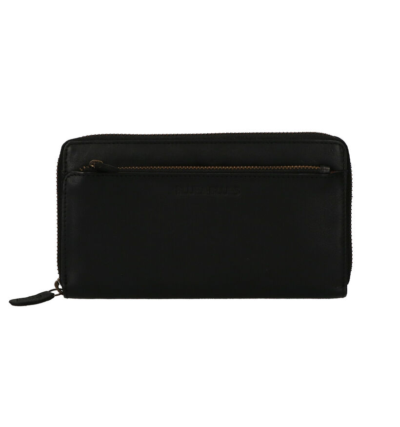 Euro-Leather Portefeuille en Noir en cuir (279372)