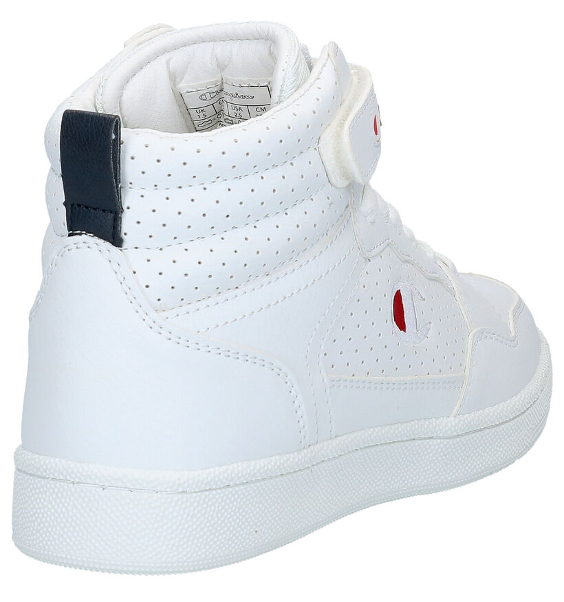 Champion Palm Lake Mid Jr Baskets en Blanc en simili cuir (279668)