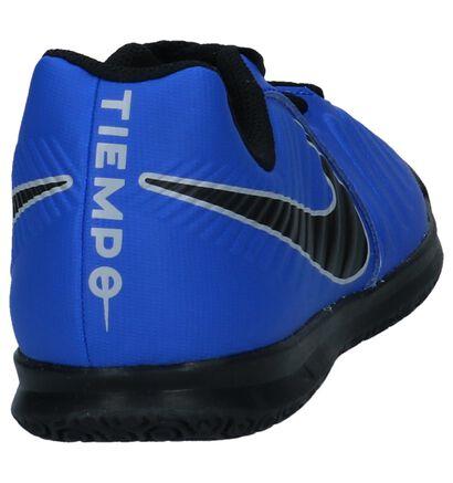 Nike JR Tiempo Blauwe Zaalvoetbalschoenen in kunstleer (235580)