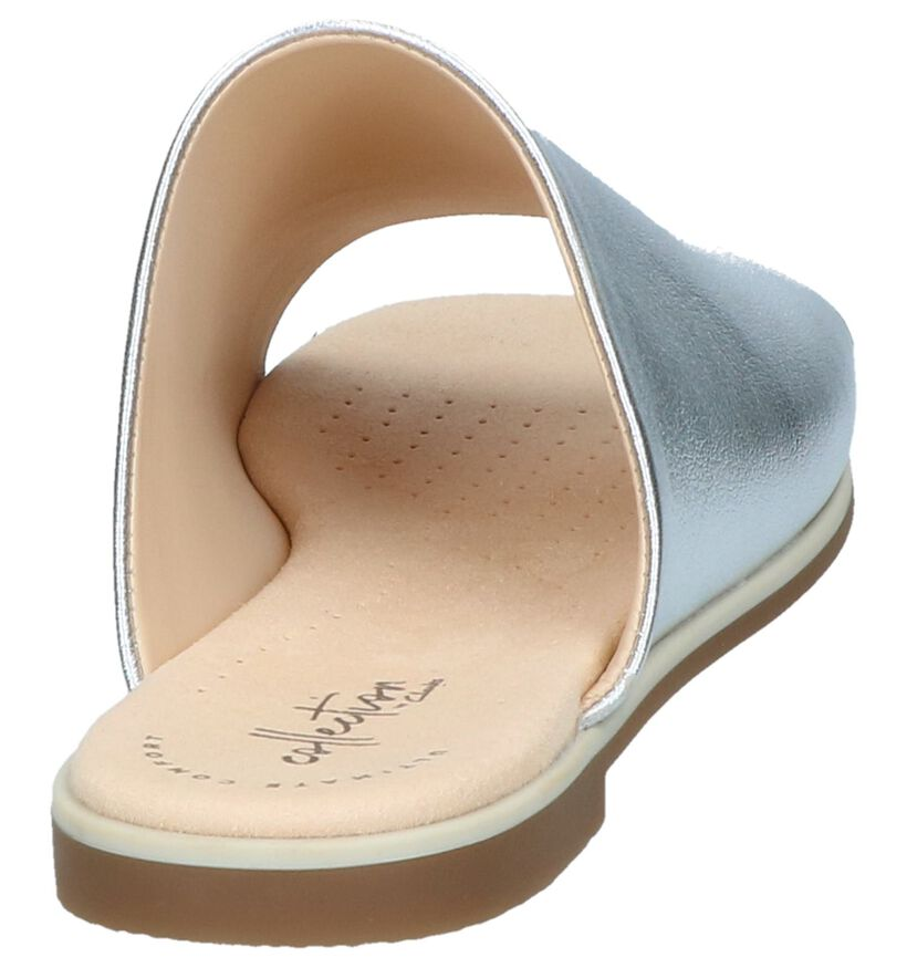 Zilveren Slippers Clarks Bay Petal in leer (241582)