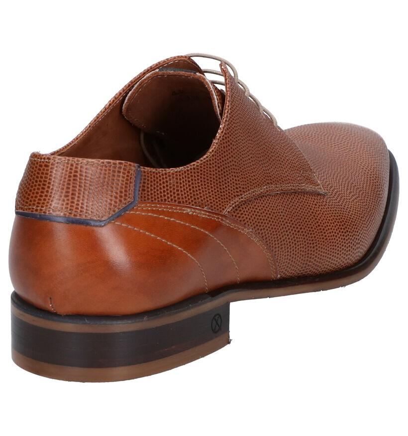 Ambiorix Chaussures habillées en Bleu foncé en cuir (274884)