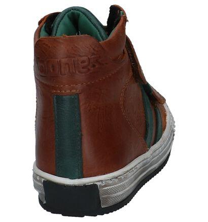 STONES and BONES Cognac Boots met Velcro Ovest Dry in leer (223452)