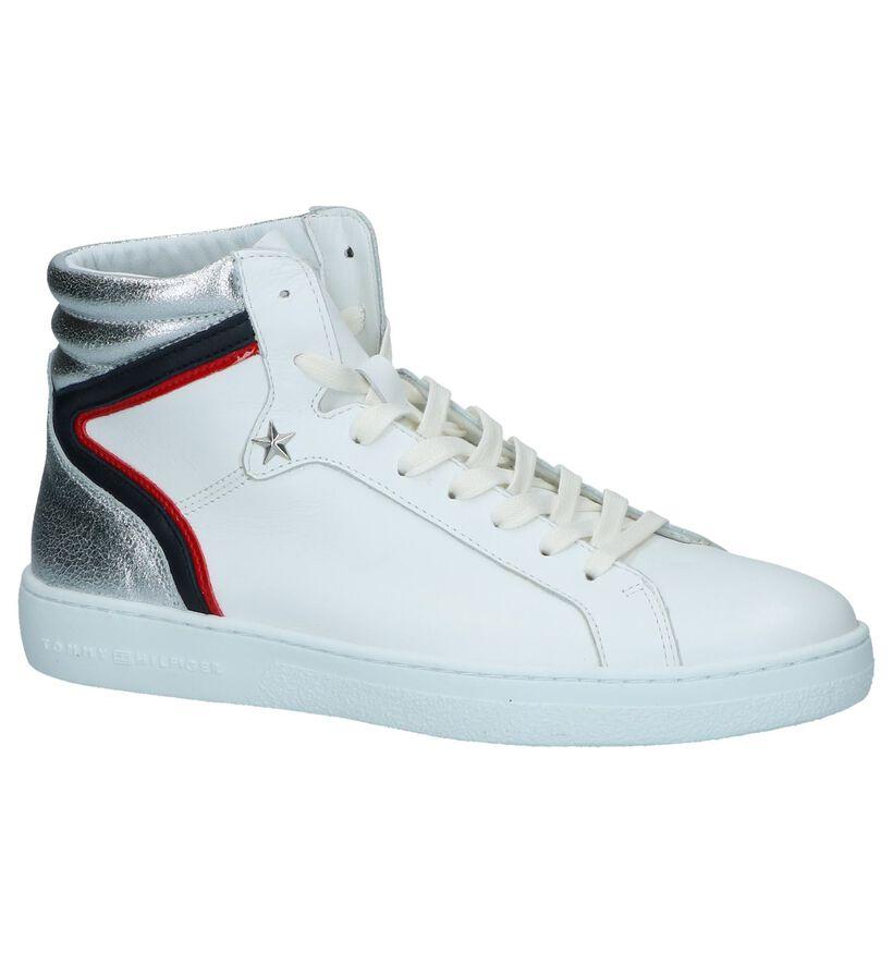 Sneakers Hoog Tommy Hilfiger Wit in leer (237238)