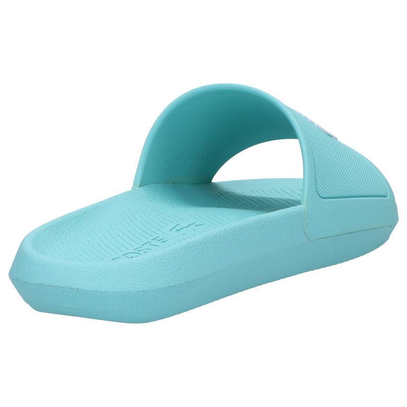 Lacoste Croco Claquettes de piscine en Turquoise en synthétique (266915)