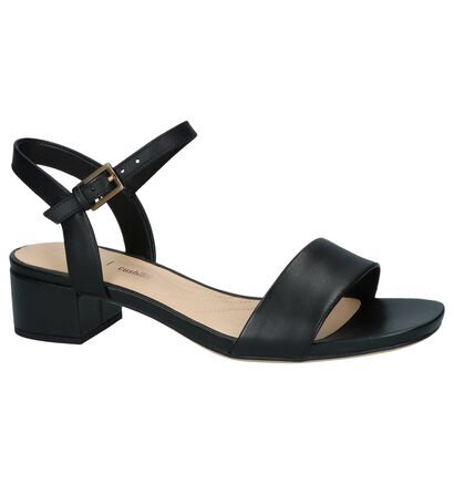 Clarks Sandales à talons en Noir en cuir (241576)