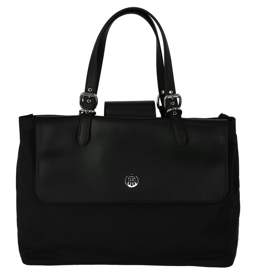 Zwarte Handtas met Laptopvak Tommy Hilfiger in kunstleer (227451)