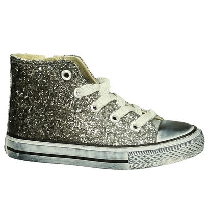 Zilveren Glitter Sneaker Asso in stof (203362)