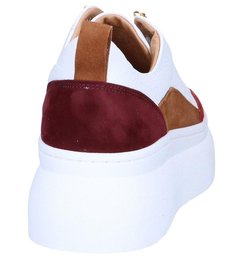 Cycleur de Luxe Baskets basses en Blanc en cuir (258795)