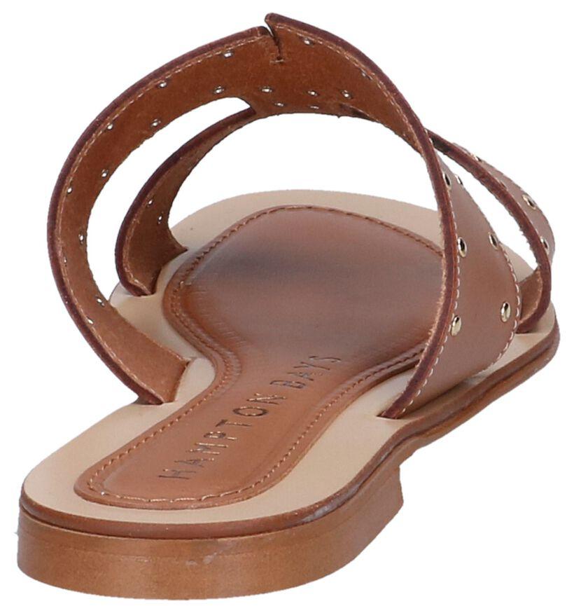 Cognac Slippers Hampton Bays in leer (239285)