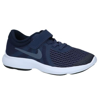 Nike Revolution Baskets basses en Bleu foncé en textile (219611)