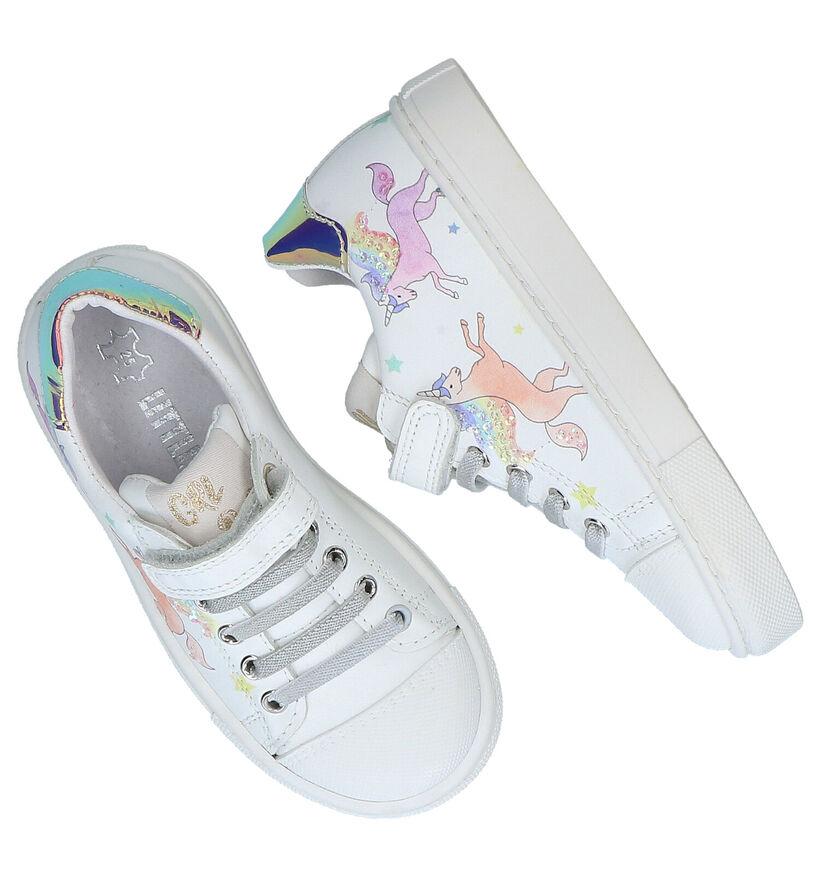 Little David Chaussures à velcro en Blanc en cuir (289319)