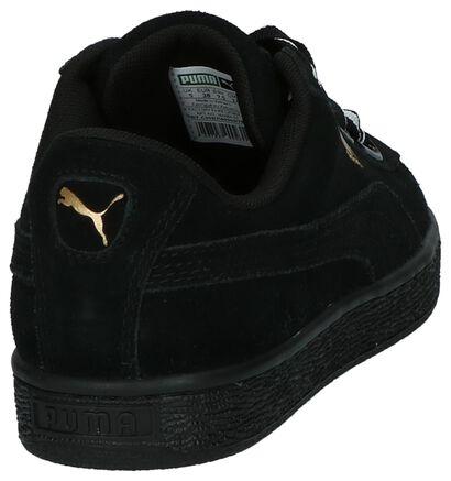 Zwarte Lage Sneakers Puma Suede Heart, Zwart, pdp