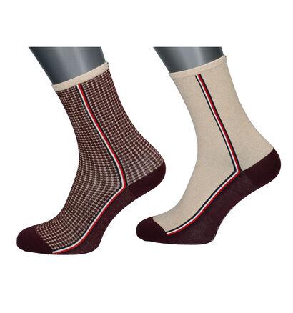 Tommy Hilfiger Blauwe/Zilveren Sokken - 2 Paar (256761)