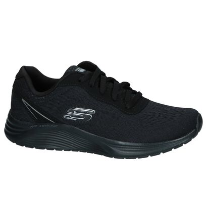 Zwarte Sneakers Skechers Skyline in stof (252002)