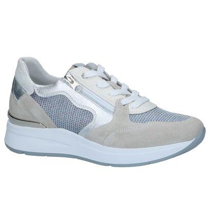 Beige Metallic Sneakers NeroGiardini in daim (249129)