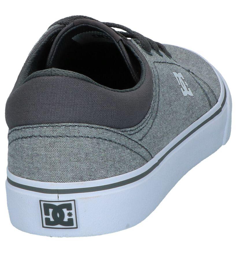 DC Shoes Baskets de skate en Gris en textile (240918)