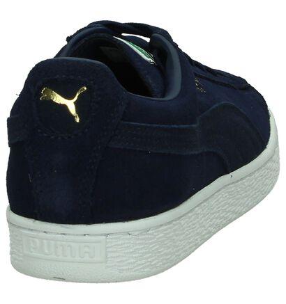 Kaki Lage Sneakers Puma Suede Classic, Blauw, pdp
