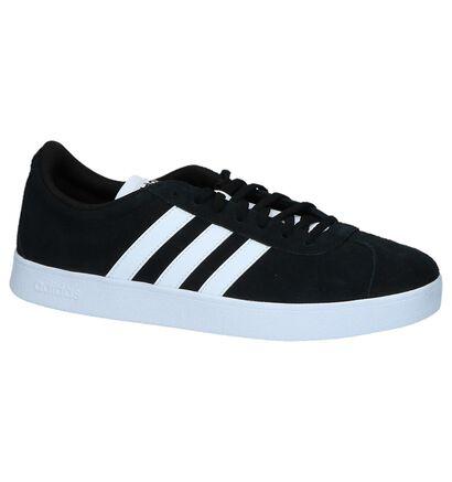 adidas VL Court 2.0 Zwarte Sneakers in kunstleer (252487)