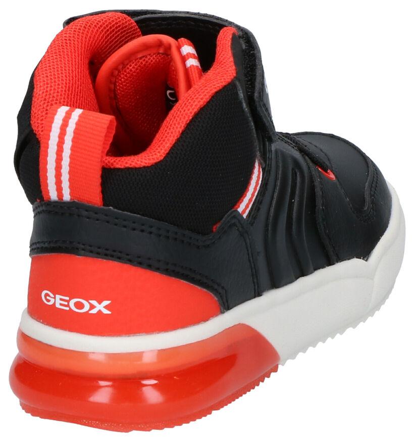 Geox Zwarte Sneakers in kunstleer (254533)