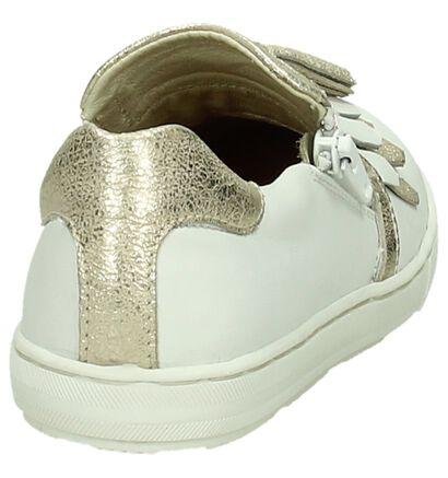 Hampton Bays Chaussures slip-on en Blanc en cuir (189597)