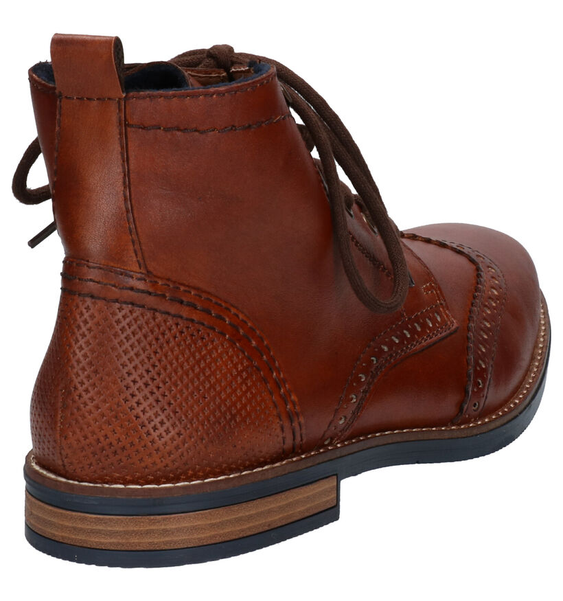 Rieker Cognac Bottines in leer (260529)