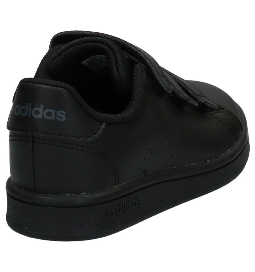 adidas Advantage Zwarte Sneakers in kunstleer (273470)