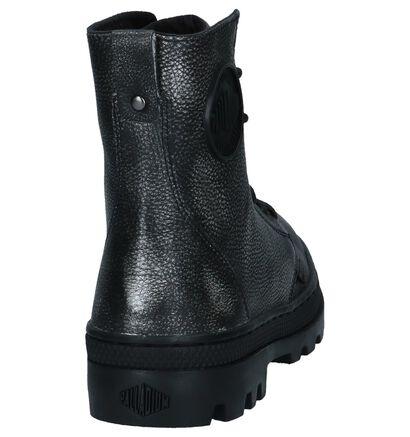 Palladium Boots met Rits/Veter Grijs Metallic in leer (225219)