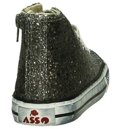 Asso Baskets hautes en Argent en textile (203362)