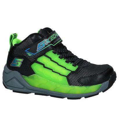 Zwarte Hoge Sportieve Sneakers met Lichtjes Skechers in kunstleer (222923)