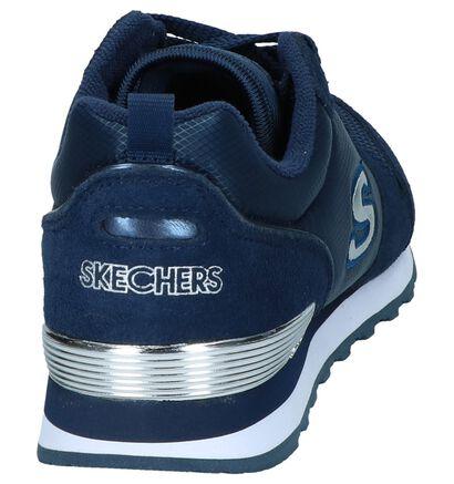 Donkerblauwe Sneakers Skechers 111 Gold'n Gurl in stof (247136)
