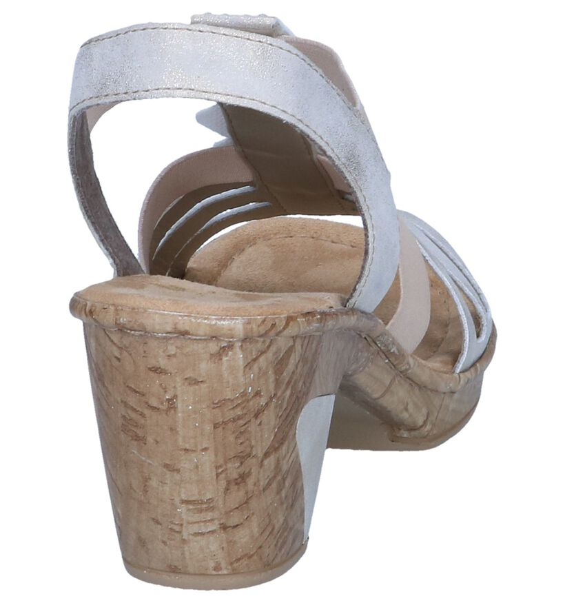 Rieker Sandales à talons en Or en simili cuir (246261)