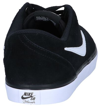 Nike SB Check Solar Zwarte Skatesneakers in daim (263263)