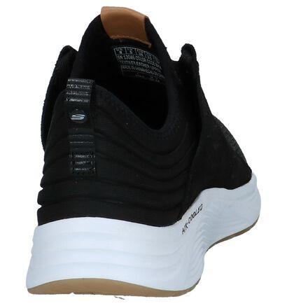 Skeckers Skyline Zwarte Lage Sneakers in daim (224262)