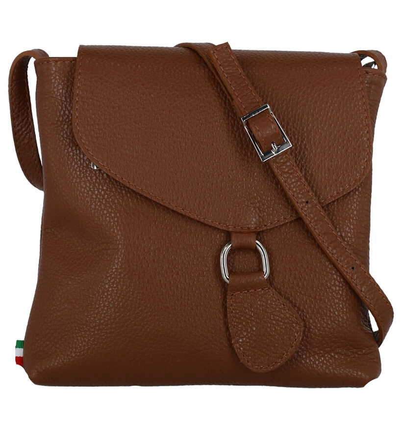 Time Mode Zwarte Crossbody Tas in leer (288724)