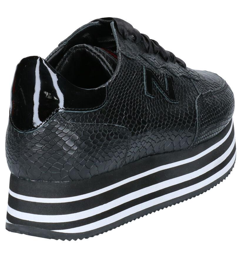 Nathan-Baume Chaussures à lacets en Noir en cuir (262285)